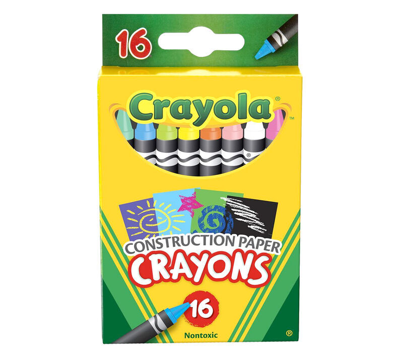 Construction Paper Crayons 16 ct.