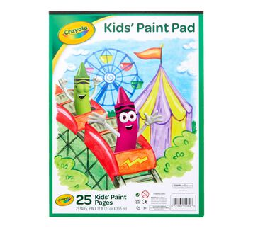 Painting Paper Pad, 25 Sheets Front of Paper Pad