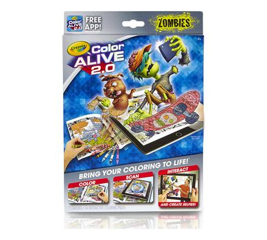 Crayola Zombies Color Alive 2 0 Interactive Coloring Pages