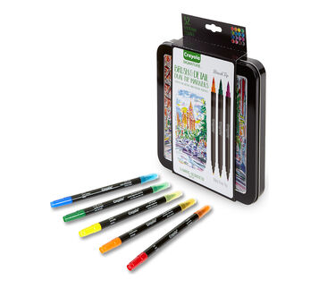 Signature Brush & Detail Dual Ended Markers, 16 Count