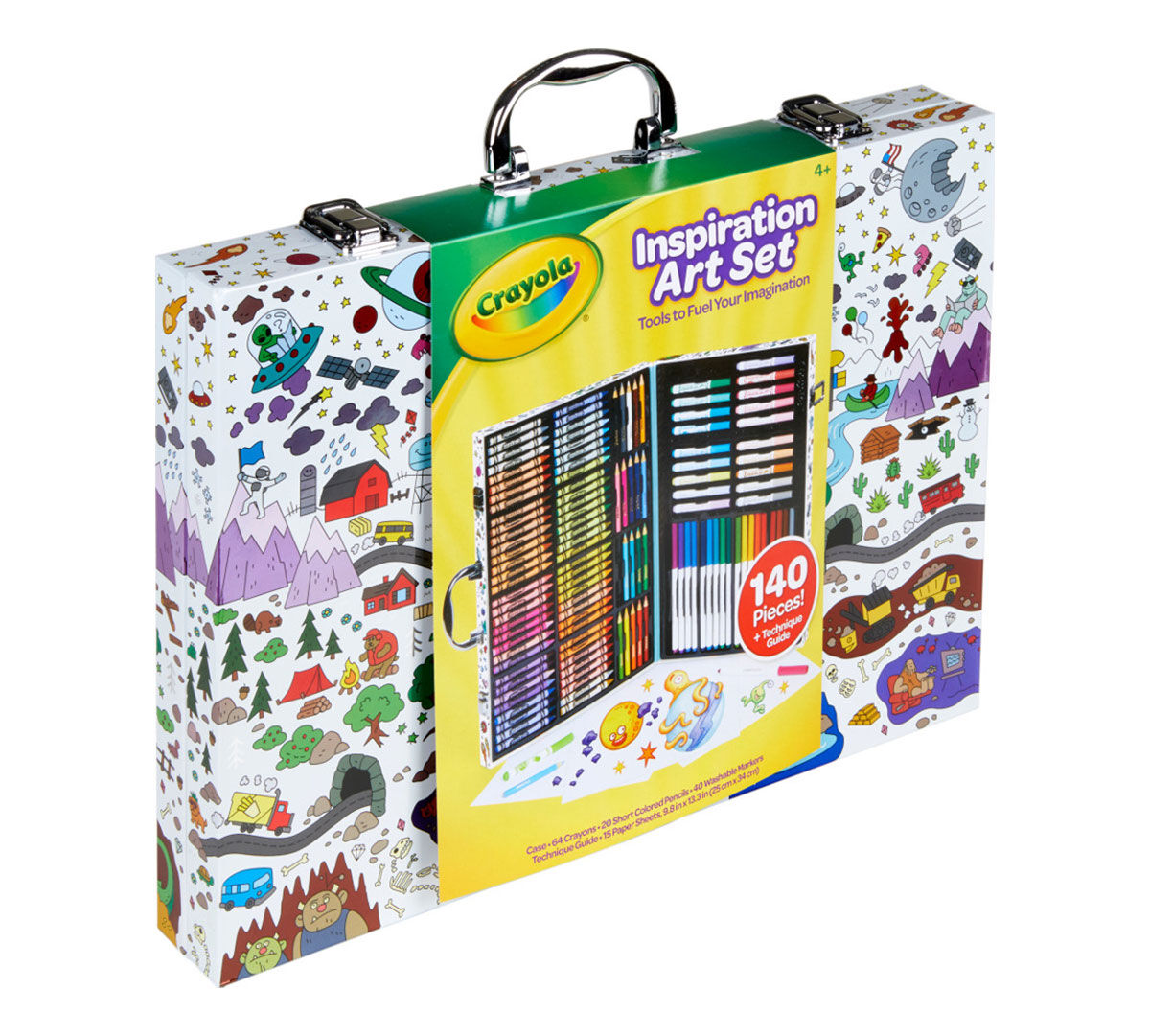 Easter Gifts for Kids 4,5,6 Crayola Inspiration Art Case 140 Pieces Art Set