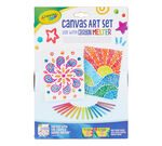 Crayon Melter Canvas Art Set front view