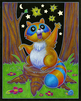 Forest Night Life Coloring Set Racoon
