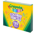 Crayola 120 Count Colored Pencils Front of box