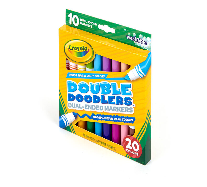 10ct Dual-Ended Washable Double Doodlers Markers