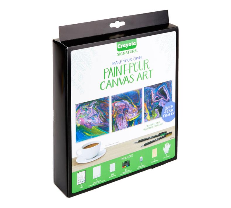 Signature Paint Pour Mini Canvas Craft Kit