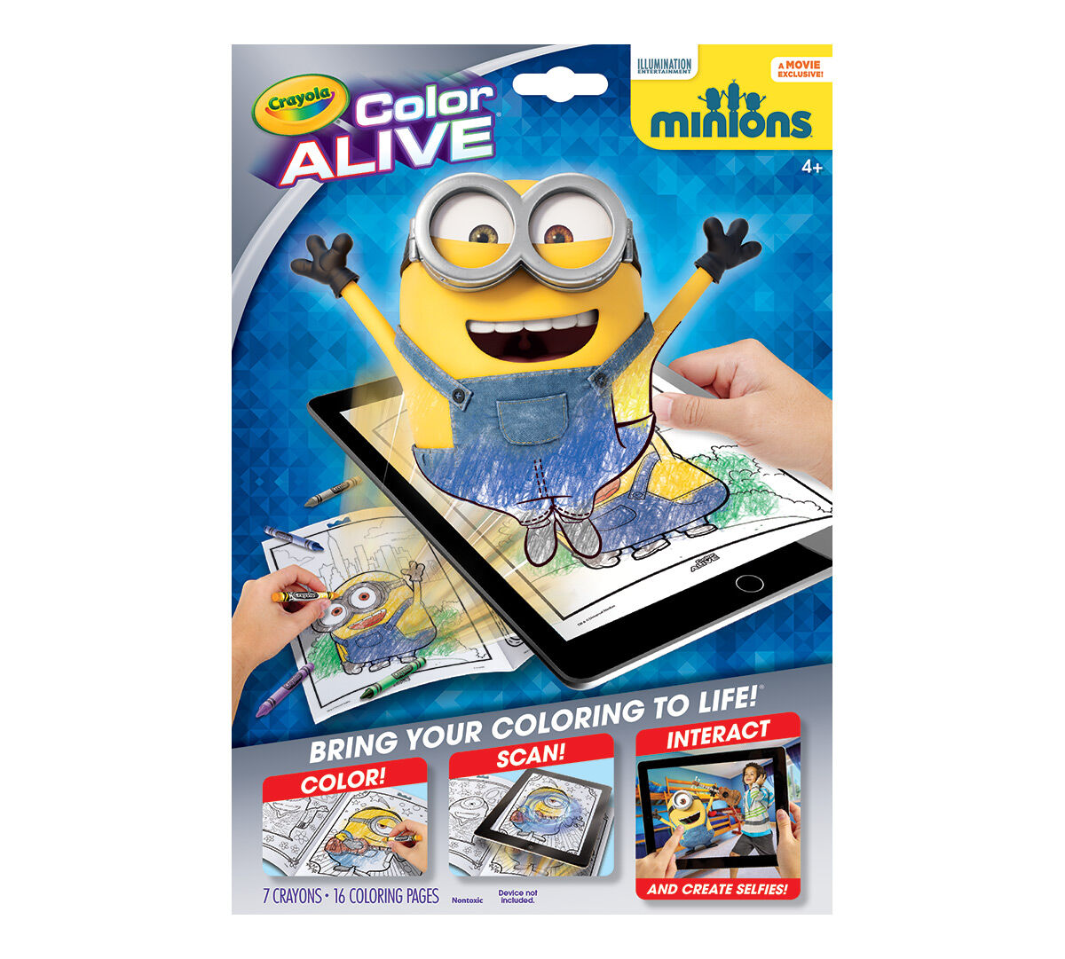 color alive minions - Crayola Color Alive Pages Minions