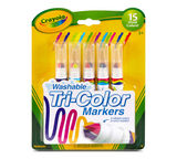 Washable Tri-Color Markers