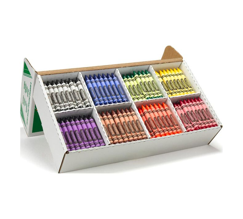 Large Crayon Classpack, 400 Count, 8 Colors