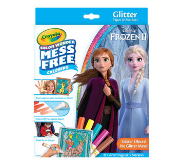 Color Wonder Mess Free Frozen 2 Glitter Effects Set, Front View