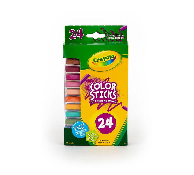 Color Sticks Colored Pencils, 24 Count