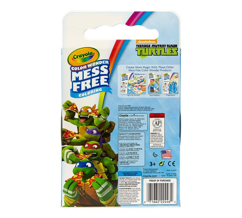 Color Wonder Mess Free Coloring Pad & Markers, Teenage Mutant Ninja Turtles