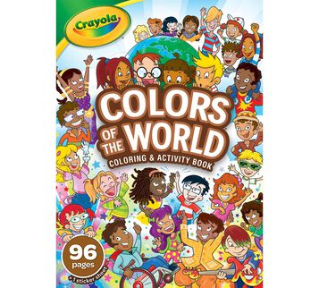Colors of the World 96 page Coloring Book front view