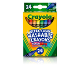 Ultra-Clean Washable Crayons, 24 Count Front View of Package