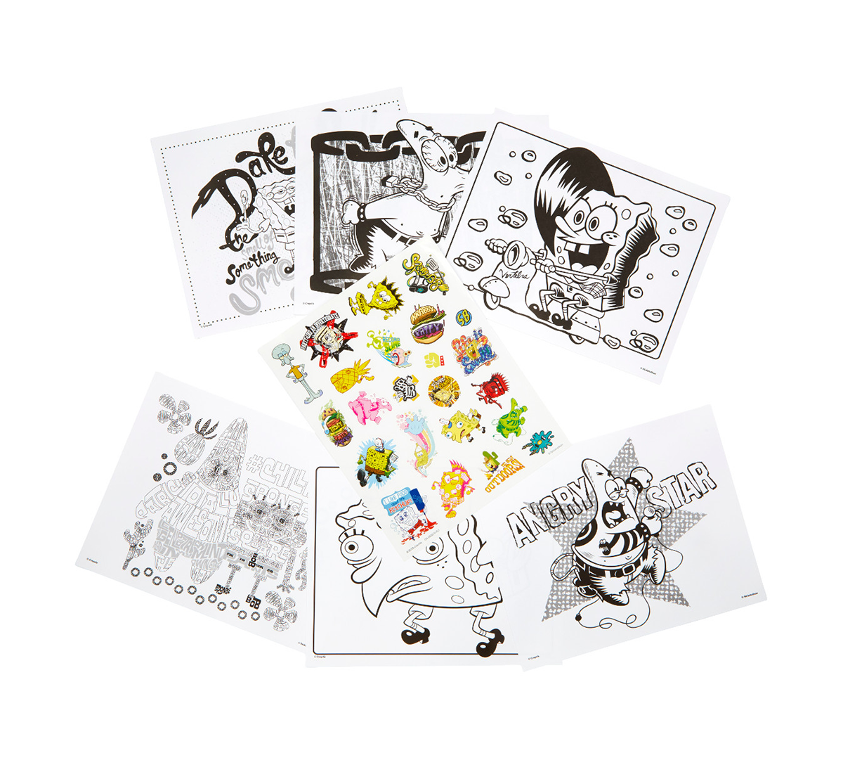 Spongebob Squarepants Coloring Pages Stickers Crayola Com Crayola