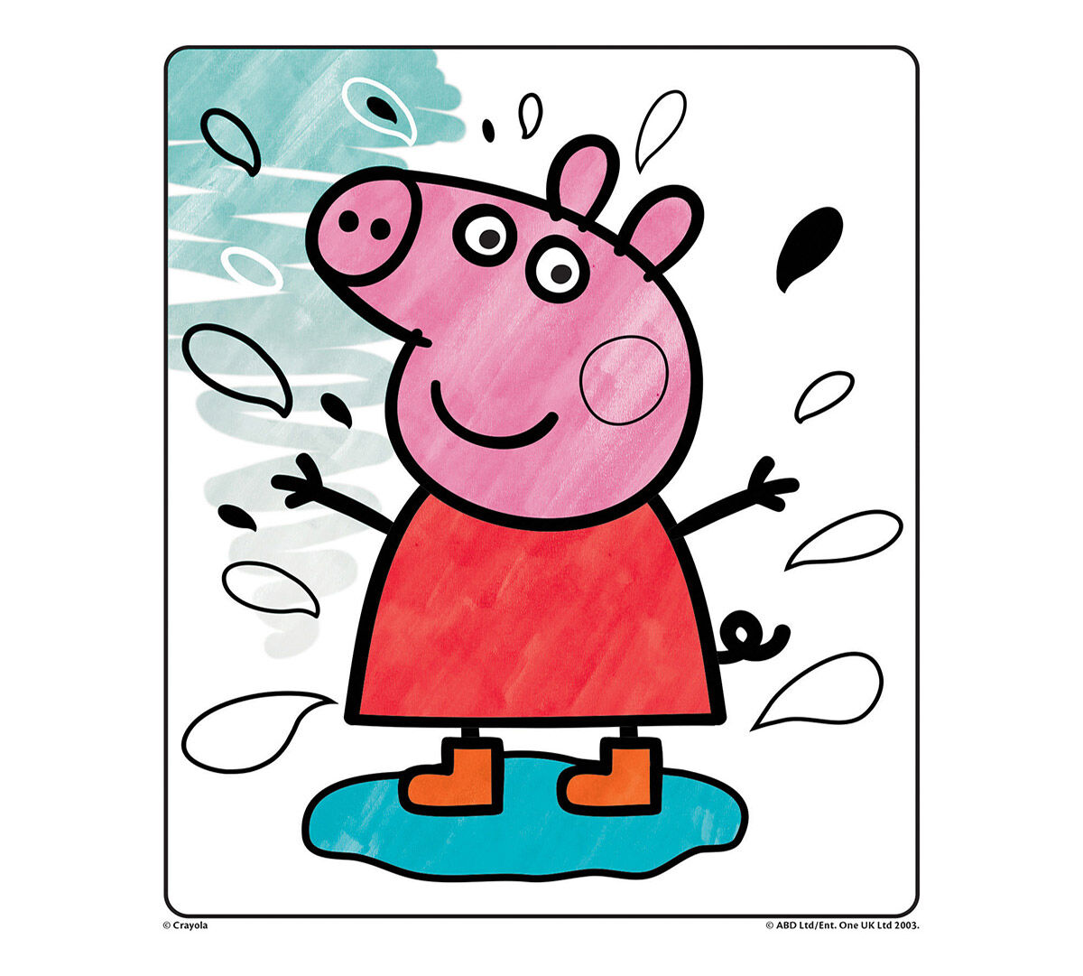 Crayola Color Wonder Peppa Pig Refill Coloring Book 5 Color Wonder