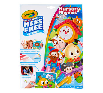 Color Wonder Mess Free Nursery Rhymes Coloring Set Front View
