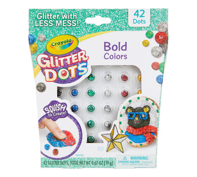 Glitter Dots, Bold Colors, 42 Count