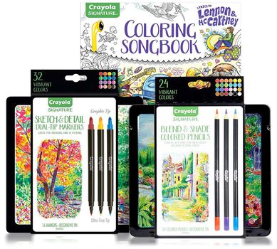 Lennon and McCartney Deluxe Adult Coloring Set | Crayola.com | Crayola