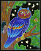 Forest Night Life Coloring Set Owl