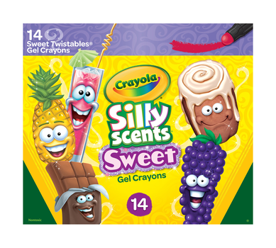 Silly Scents Gel Crayons, Sweet Scents, 14 Count