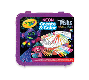 Trolls Create & Color Art Set