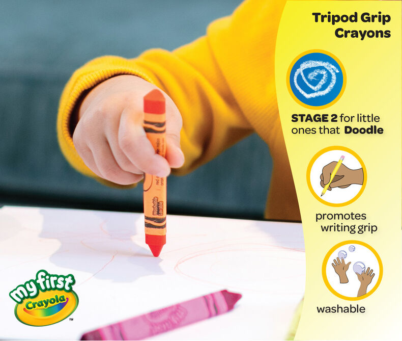 81 1460 0 200 81 1461 0 200 My First Washable Tripod Grip Crayons 16ct PDP 4 FB