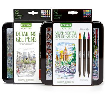 Signature Gel Pens and Brush & Detail Markers Set