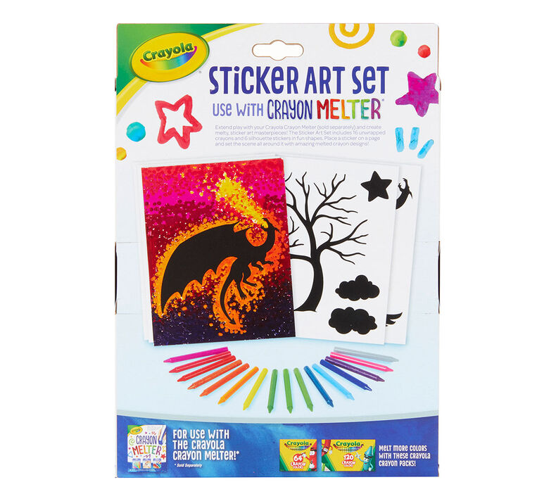 Sticker Art Set for use with Crayon Melter