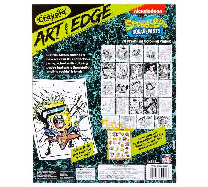 Art With Edge, Nickelodeon SpongeBob Squarepants Coloring Pages