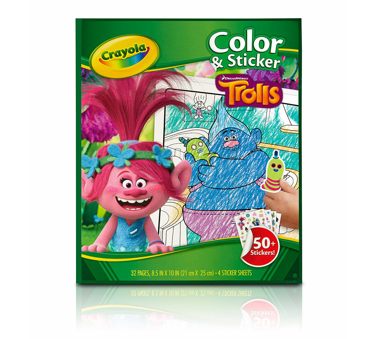Trolls Color and Sticker Book | Crayola
