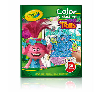 Trolls Color 'n Sticker Book