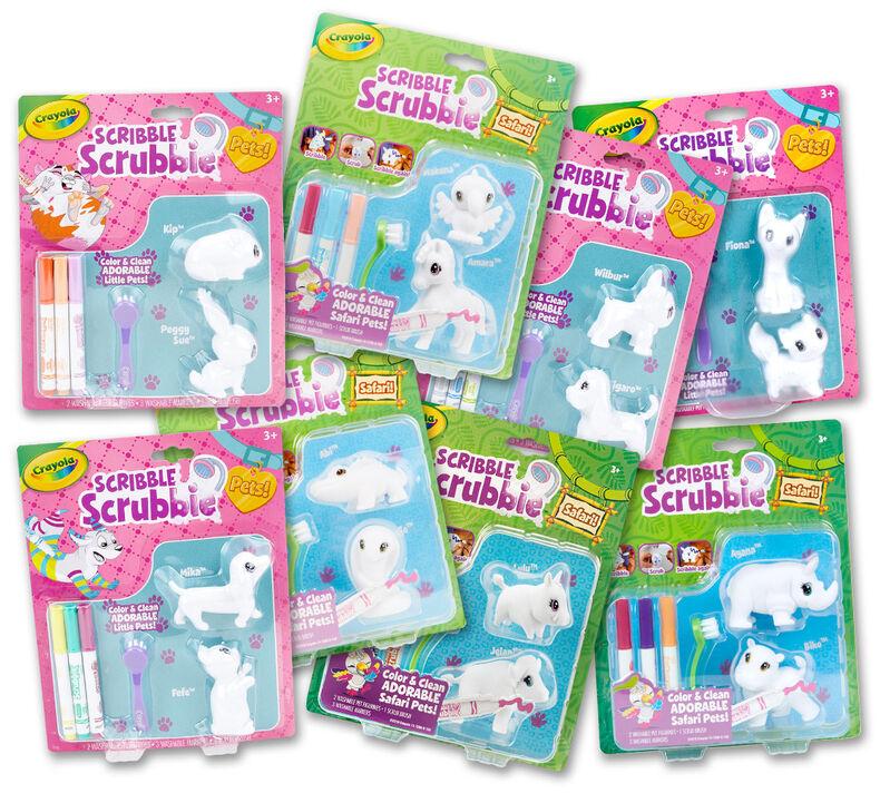 Scribble Scrubbie Pets & Safari 8-in-1 Gift Set - You Pick
