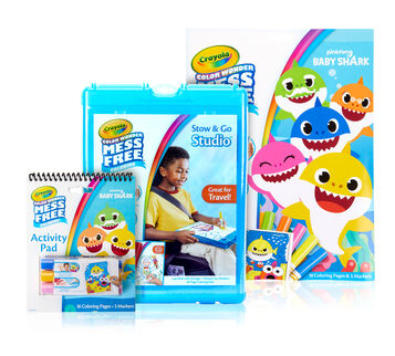 Color Wonder Mess Free Baby Shark Coloring Gift Set