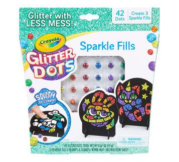 Glitter Dots Sparkle Mosaics Front View of Box