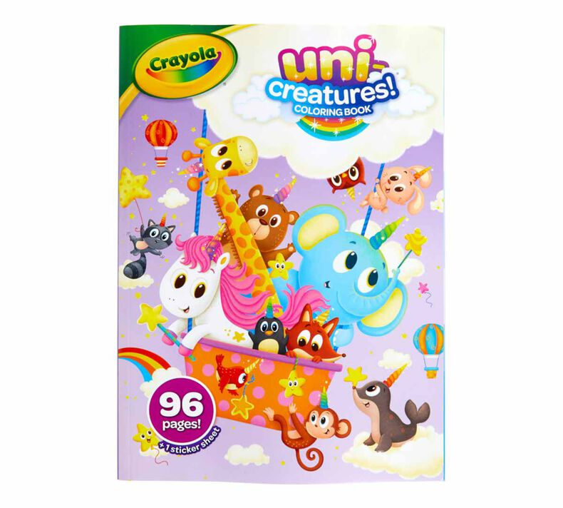 Uni-Creatures Coloring Book, 96 Unicorn Coloring Pages