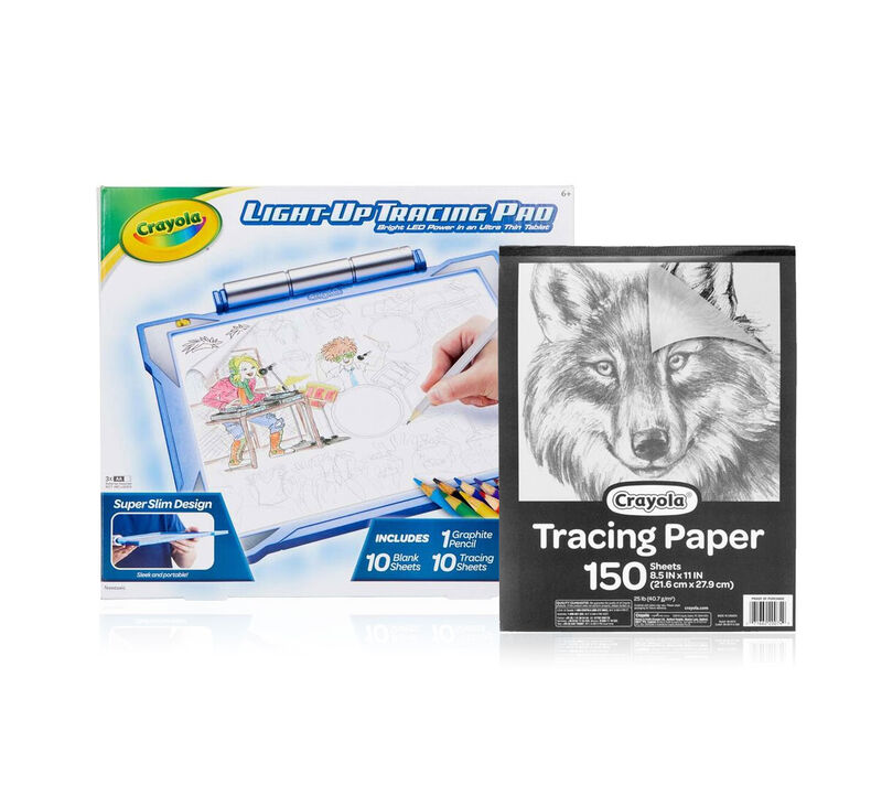 Blue Light Up Tracing Pad Gift Set