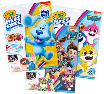 3-in-1 Color Wonder Mess Free Paw Patrol, Baby Shark & Blue's Clues Coloring Gift Set