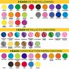 Color Swatches for 208 Count Crayon Gift Set