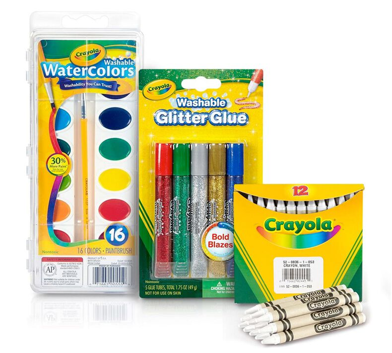 Watercolor Resist Craft Kit for use with Crayon Melter