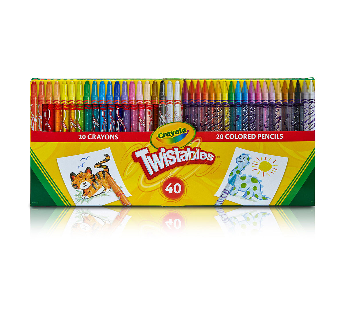 40 Count Twistables Colored Pencils and Crayons Combo Pack