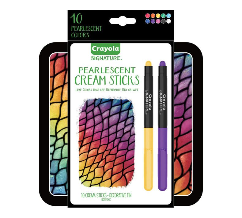 Signature Pearlescent Cream Sticks, 10 Count