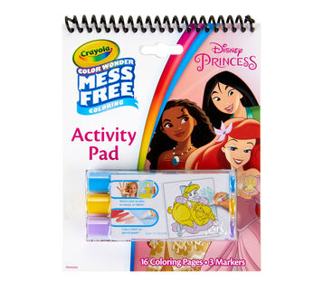 Color Wonder Mess Free Princess Coloring & Activity Pad Front View