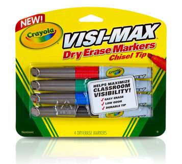 Dry Erase Visi Max Markers 4 count front