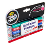 Take Note Low Odor Dry Erase Markers, 4 Count Left Angle