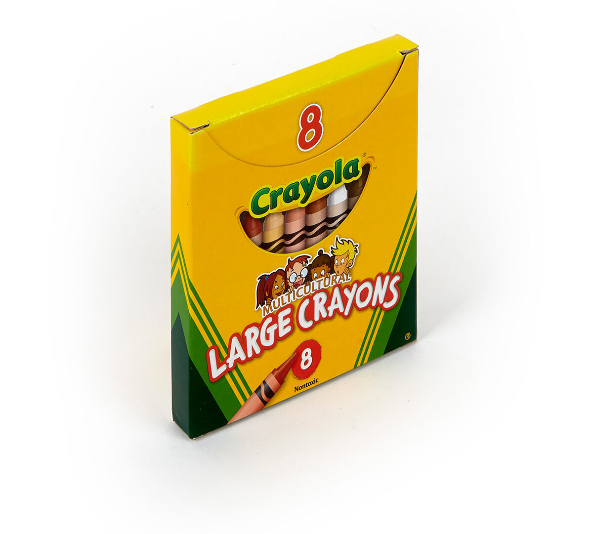 Large Size 8 Count Multicultural Crayons
