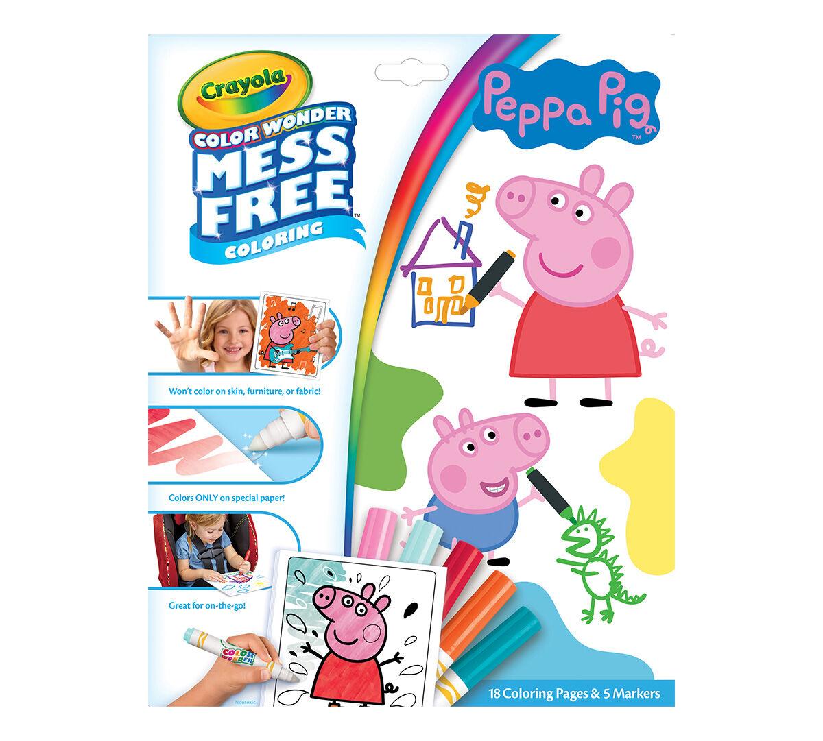 Color Wonder Mess Free Peppa Pig Coloring Set | Crayola.com | Crayola