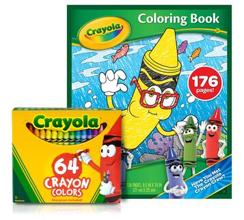 New Blue Coloring Book and Crayons