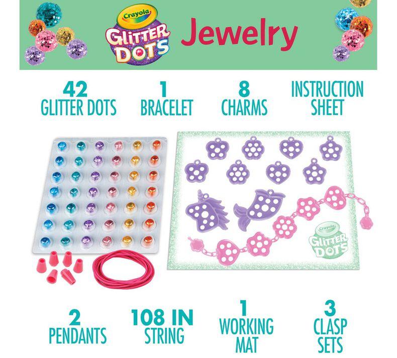 Glitter Dots Jewelry Kit, Glitter Craft Kit