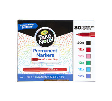 Take Note Permanent Markers, 80 Count Front View